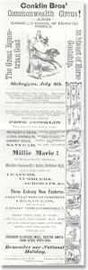 Conklin Bros poster 1872